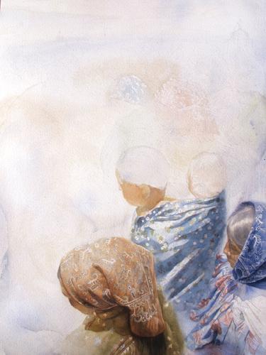 Patricia Guzman step 4 | watercolor portraits
