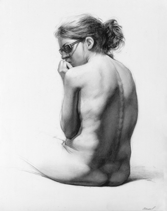 Figure drawing by Steven Assael.