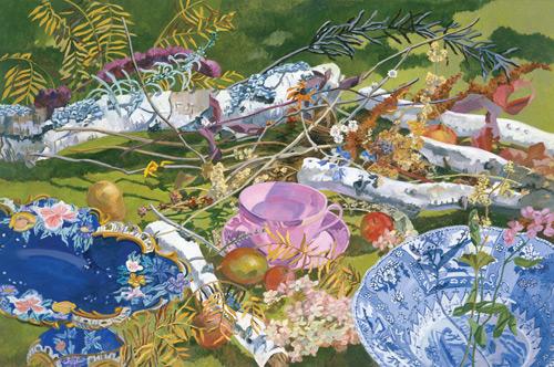 still life La Tasse Rose C'est Moi by Harriet Shorr | ArtistsNetwork.com
