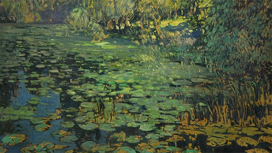 Water Lily by Václav Radimsky, Impressionism oil painting, ca. 1910.