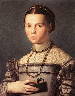 Portrait of Little Girl with Book by Bronzino.