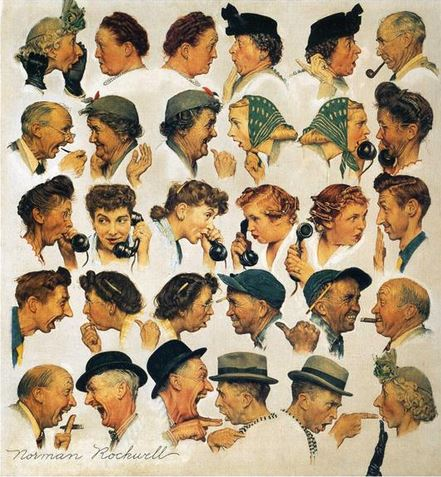 The Gossips by Norman Rockwell, 1948.