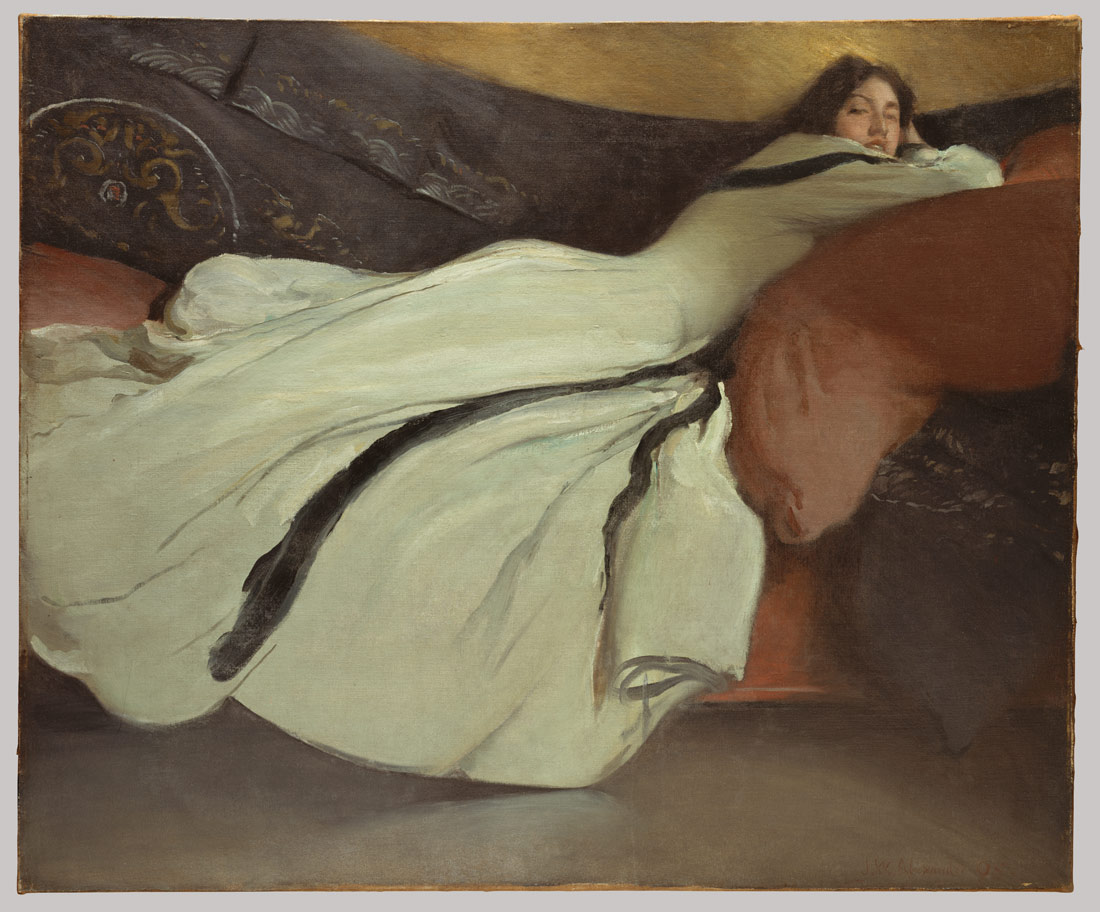 Repose by John White Alexander, oil painting.