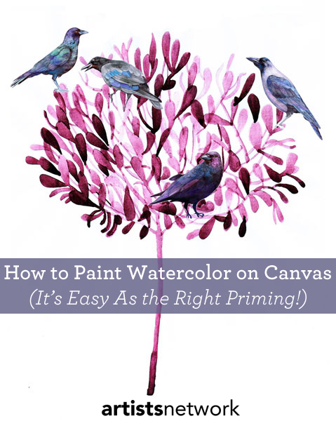 How to use a canvas for watercolor painting it 39 s all for How to make canvas painting