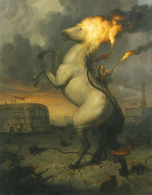 Illustration by Martin Wittfooth.