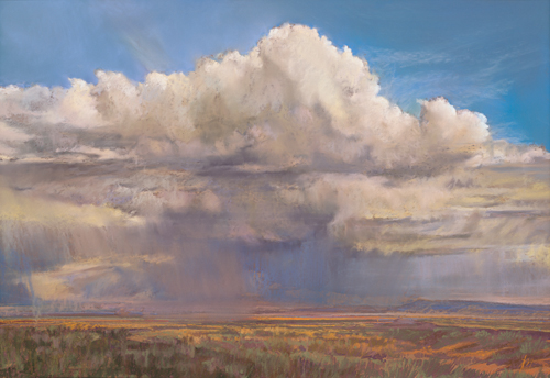 pastel_landscape_Manzano-Light_30x38_Iva-Morris | artistsnetwork.com