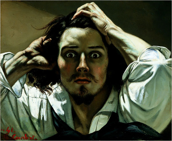The Desperate Man (Self-Portrait) by Gustave Courbet, 1843.