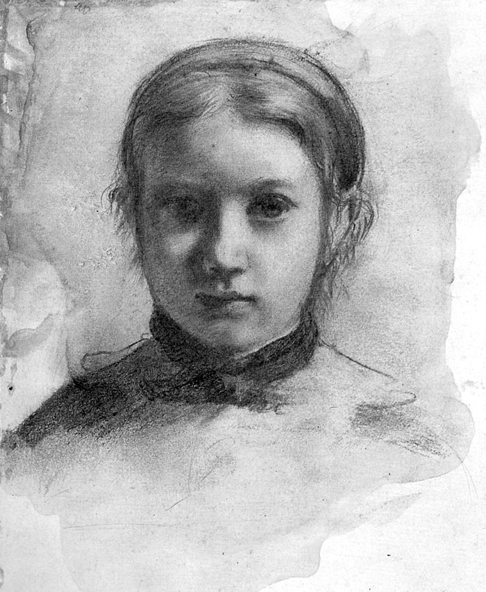 Giovananni Bellelli by Degas, life sketch for family portrait, 1867.