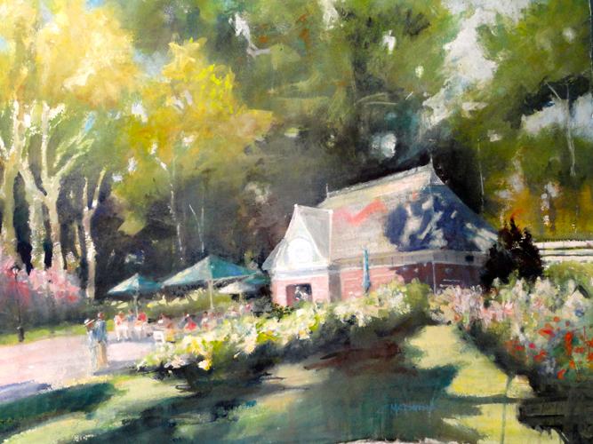 watercolor landscape_Baseball Cafe_Carole McDermott | artistsnetwork.com