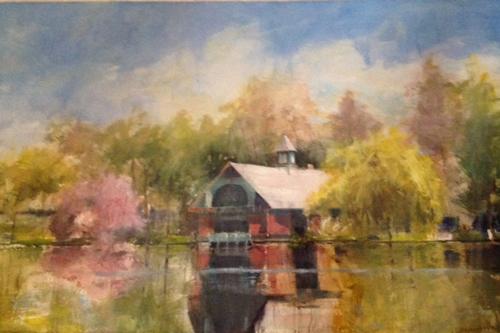 watercolor landscape_Harlem Meer Spring_Carole McDermott | artistsnetwork.com