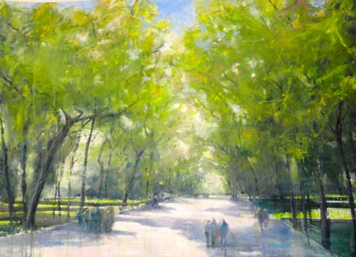 watercolor landscape_literary walk summer_Carole McDermott | artistsnetwork.com