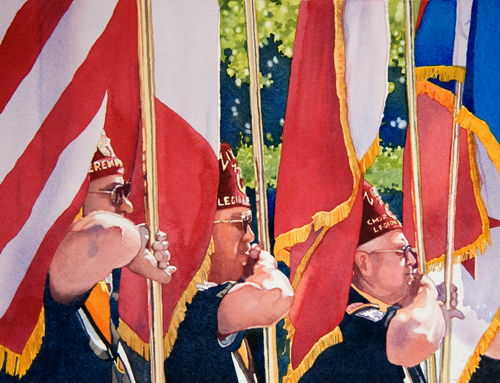 Honor America by Catherine P. O'Neill | watercolor figures