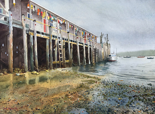 Owl's Head Harbor by John Keepax | up and coming artists