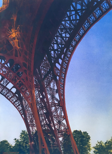 Under the Eiffel Tower by John Keepax | up and coming artists