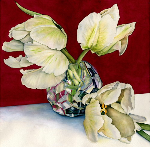 Tulips in Crystal by Kathy Simon-McDonald | up and coming artists