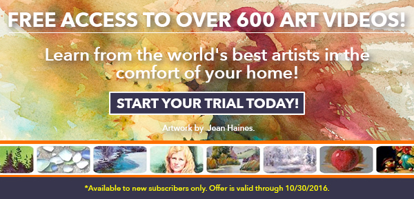 Free access to art videos at ArtistsNetwork.tv