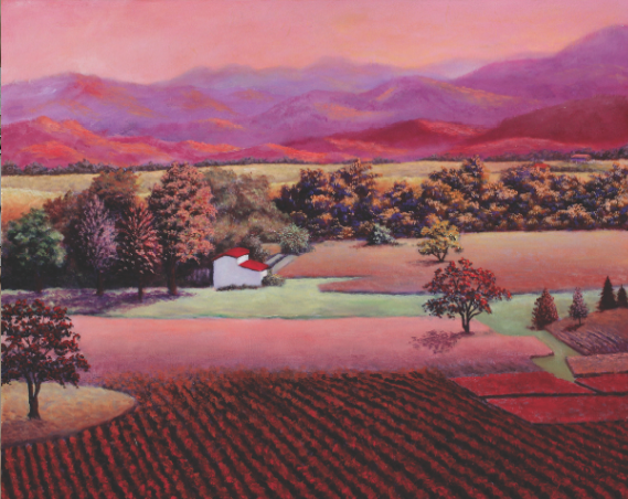 "NAPA RED Preston Craig Acrylic on Canvas 24"" x 30"""