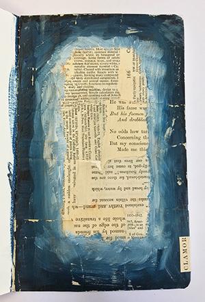 Art journal collaged background