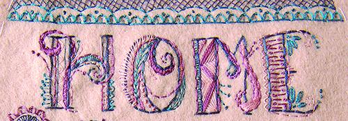 Doodle stitching by Melissa Davison