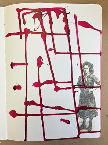 Art journal backgrounds image transfer
