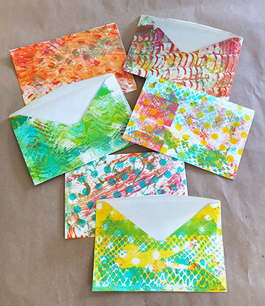 Monoprinted envelopes