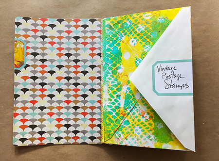 Recycled journal envelope pages