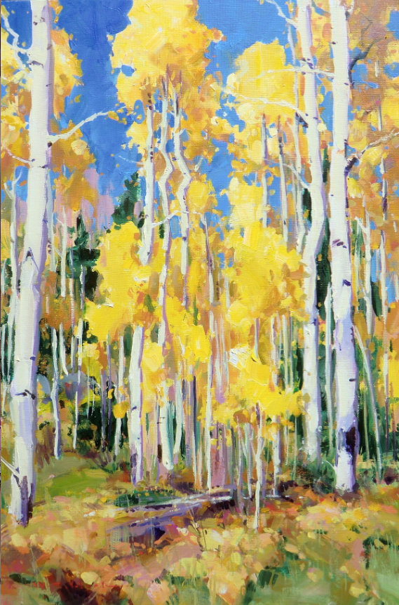ASPEN AFTERNOON William Cather Hook Acrylic on Canvas