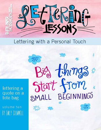 Lettering Lesson Vol. 10 by Emily Cromwell