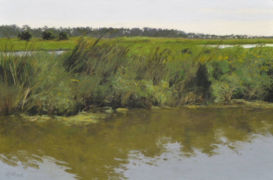 marymonk_pastel_marshreflections_9-7-15_12x18_wallispaper_-softpastel_plein-air