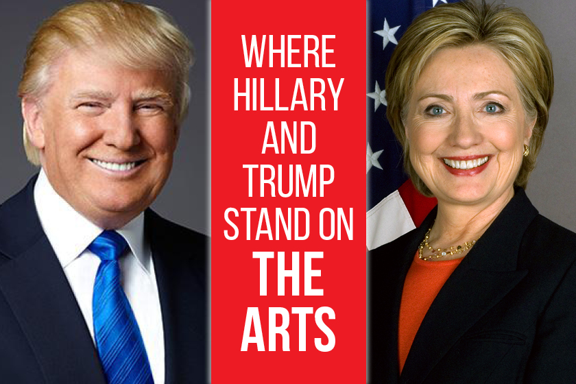 Presidential election: Where Trump and Hillary Stand on the Arts