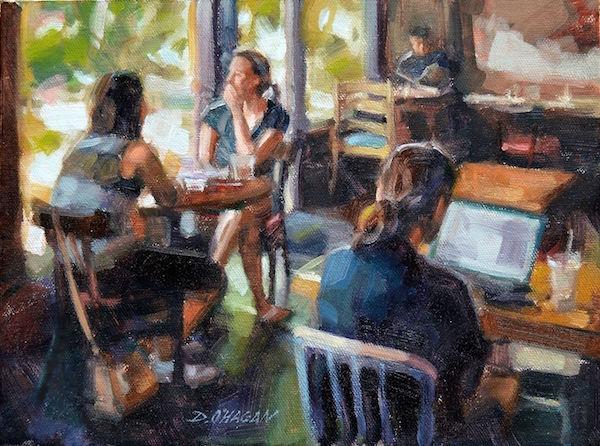 Desmond O'Hagan Cafe Oil Painting Demo | ArtistsNetwork.com