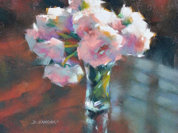 Desmond O'Hagan, Peonies, Pastel Demo | ArtistsNetwork.com