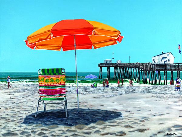 Ocean City NJ Bernie Hubert, Acrylic Painting