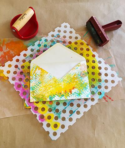 Monoprinting envelopes