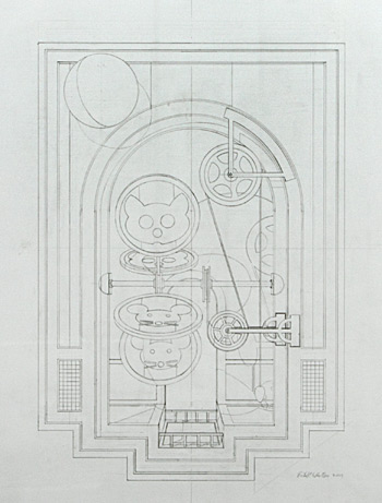 Drafted drawing for Thaumatrope by Richard Whitten