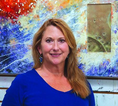 Sandra Duran Wilson, acrylic artist and author.
