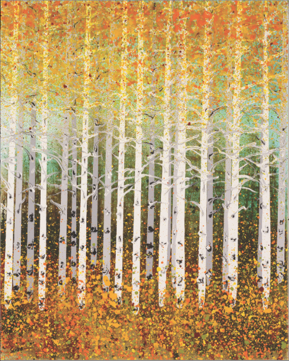 "ASPENS XX Nancy Seiler Fluid Acrylic on Canvas 30"" x 24"""