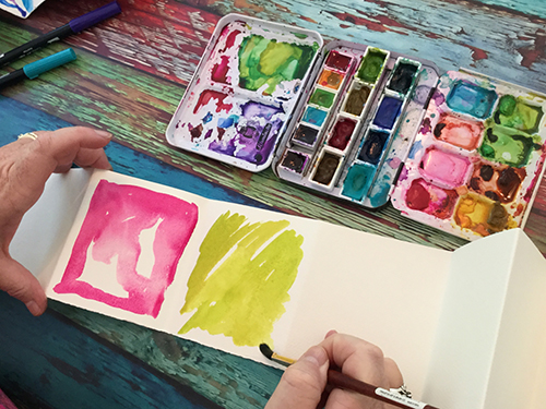 Watercolor backgrounds by Joanne Sharpe