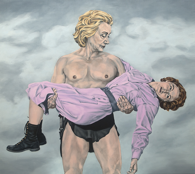 Political art: Sarah Sole's painting of Hillary Clinton as Tarzan