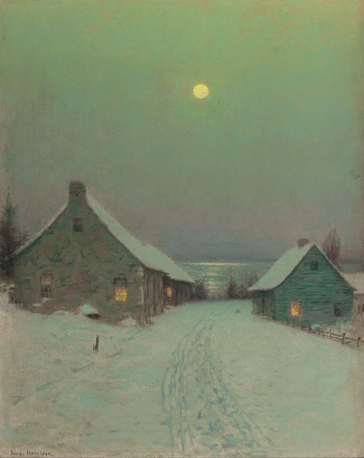 Birge Harrison: Winter landscape painting