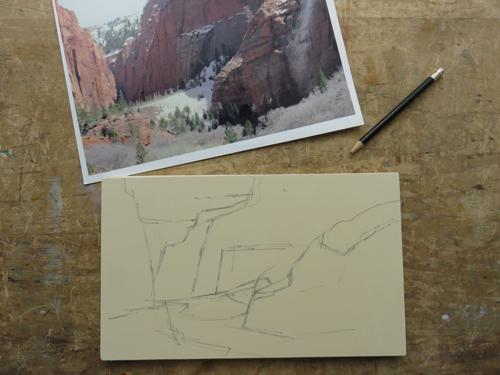 pastel monoprint demo 1 by Michael Chesley Johnson | pastel monoprint