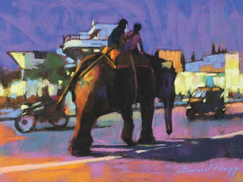 pastel_landscape_Elephant Crossing by David Napp | artistsnetwork.com