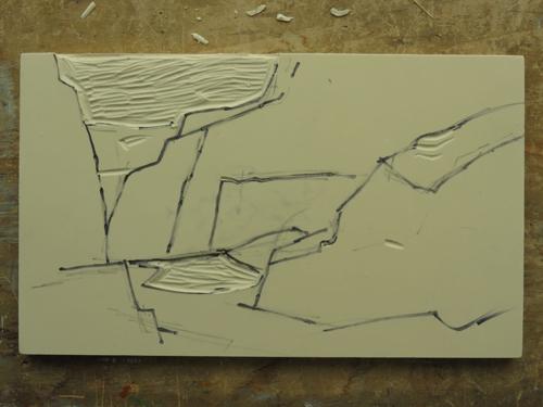 pastel monoprint demo 3 by Michael Chesley Johnson | pastel monoprint