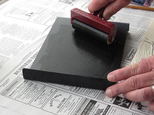 pastel monoprint demo 4 by Michael Chesley Johnson | pastel monoprint