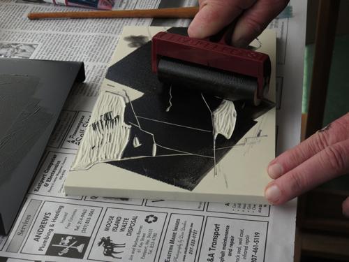 pastel monoprint demo 5 by Michael Chesley Johnson | pastel monoprint