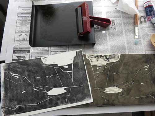 pastel monoprint demo 8 by Michael Chesley Johnson | pastel monoprint
