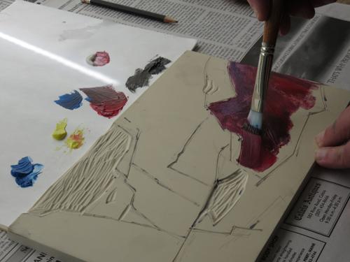 pastel monoprint demo 9 by Michael Chesley Johnson | pastel monoprint