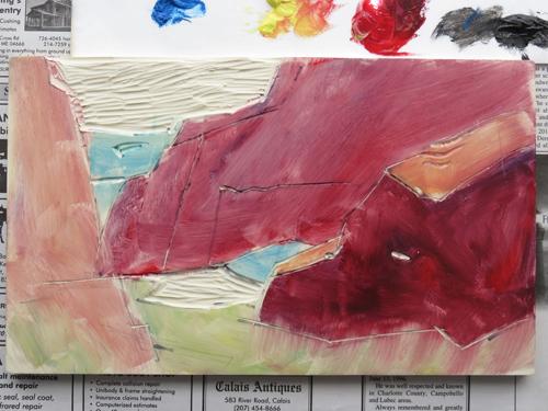 pastel monoprint demo 9a by Michael Chesley Johnson | pastel monoprint