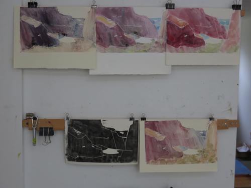 pastel monoprint demo 9b by Michael Chesley Johnson | pastel monoprint