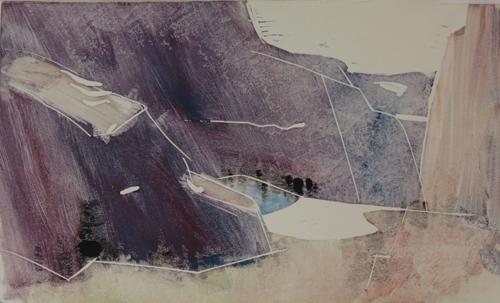 pastel monoprint demo 9c by Michael Chesley Johnson | pastel monoprint